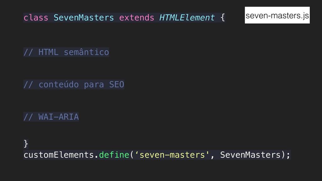 class SevenMasters extends HTMLElement { } cust...