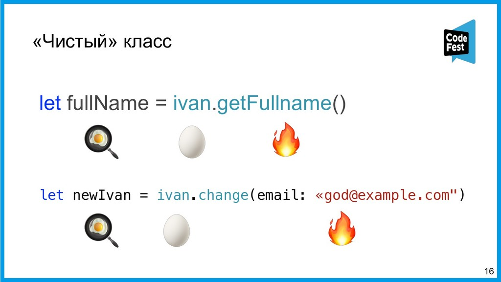 «Чистый» класс let fullName = ivan.getFullname(...