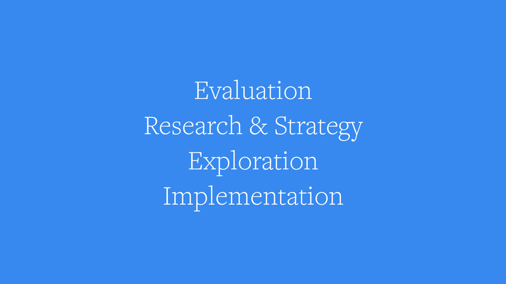 Evaluation Research & Strategy Exploration Impl...