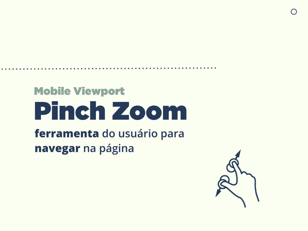 Mobile Viewport Pinch Zoom ferramenta do usuári...
