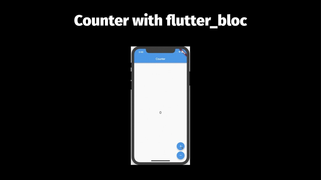 Counter with flutter_bloc