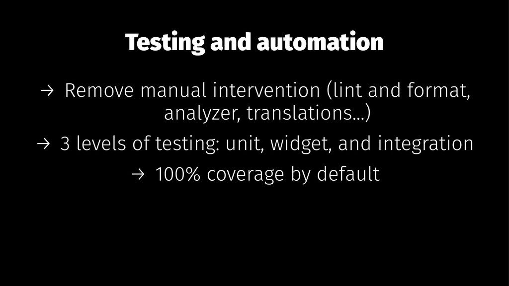 Testing and automation → Remove manual interven...
