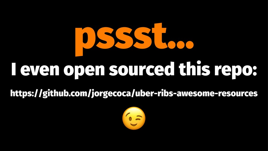 pssst... I even open sourced this repo: https:/...