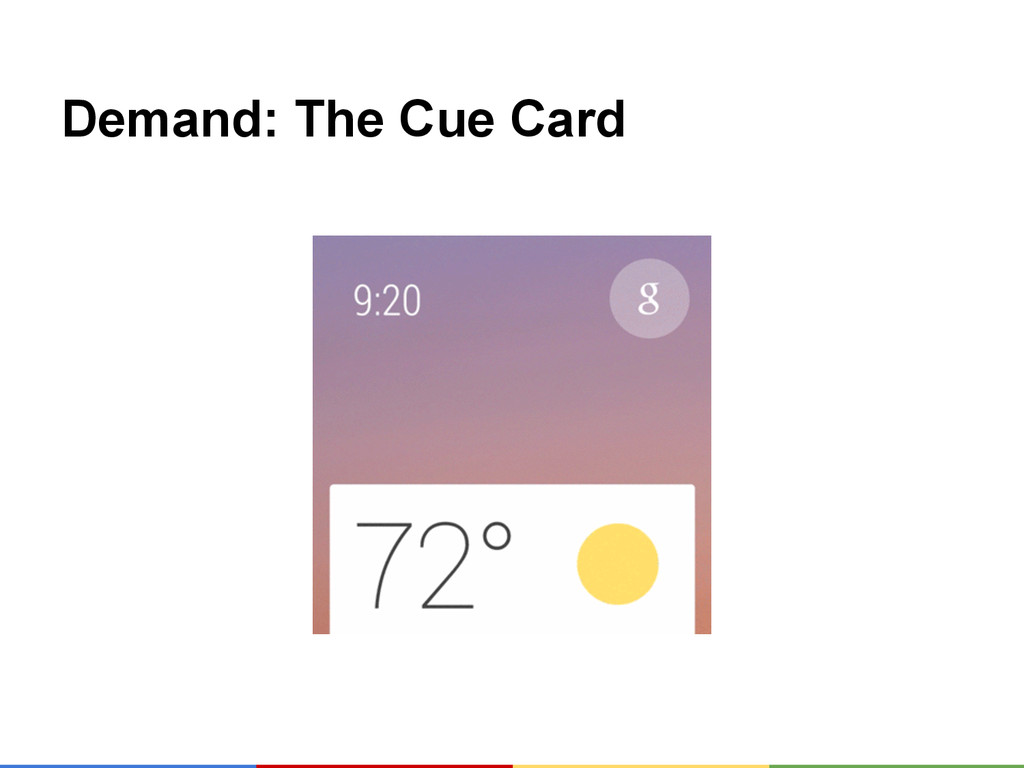 Demand: The Cue Card