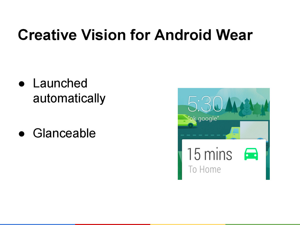 Creative Vision for Android Wear ● Launched aut...
