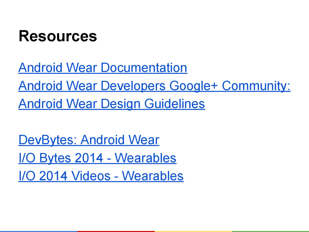 Resources Android Wear Documentation Android We...