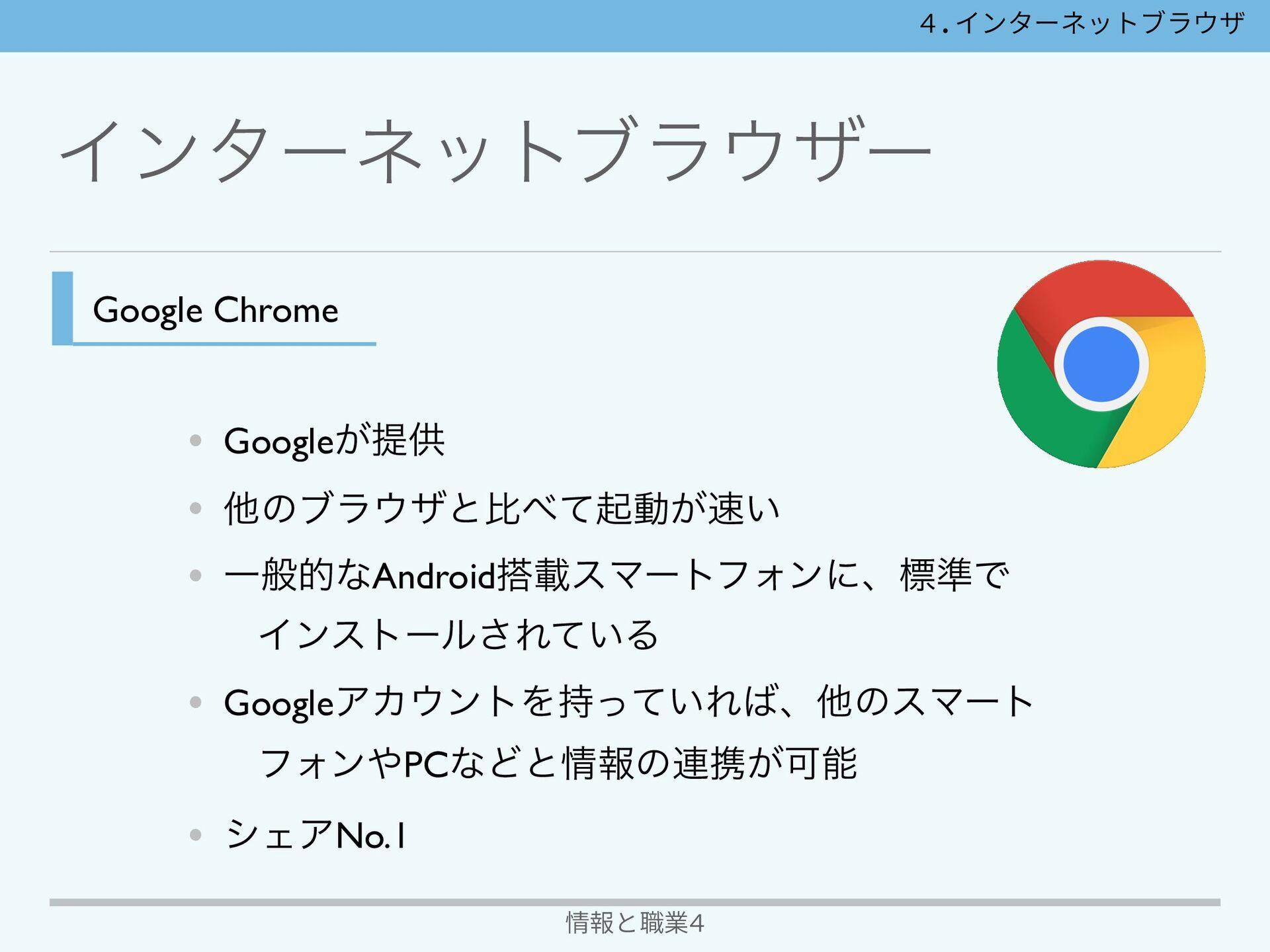 Πϯλʔωοτϒϥβʔ 情報と職業4 Google Chrome Safari Πϯλʔωο...