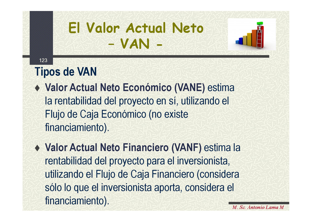 123 M. Sc. Antonio Lama M El Valor Actual Neto ...