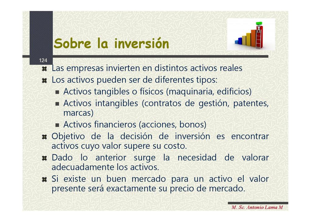 124 M. Sc. Antonio Lama M Sobre la inversión So...