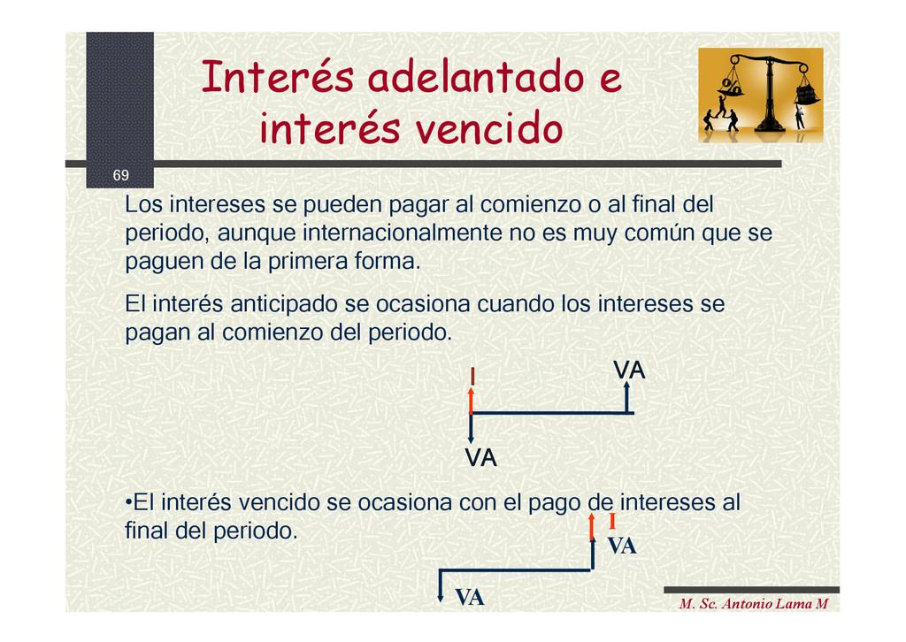 69 M. Sc. Antonio Lama M Interés adelantado e i...