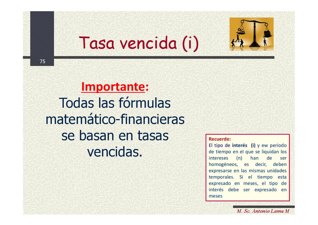 75 M. Sc. Antonio Lama M Importante: Todas las ...