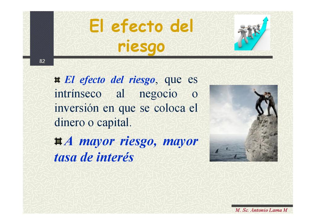 82 M. Sc. Antonio Lama M El efecto del riesgo E...