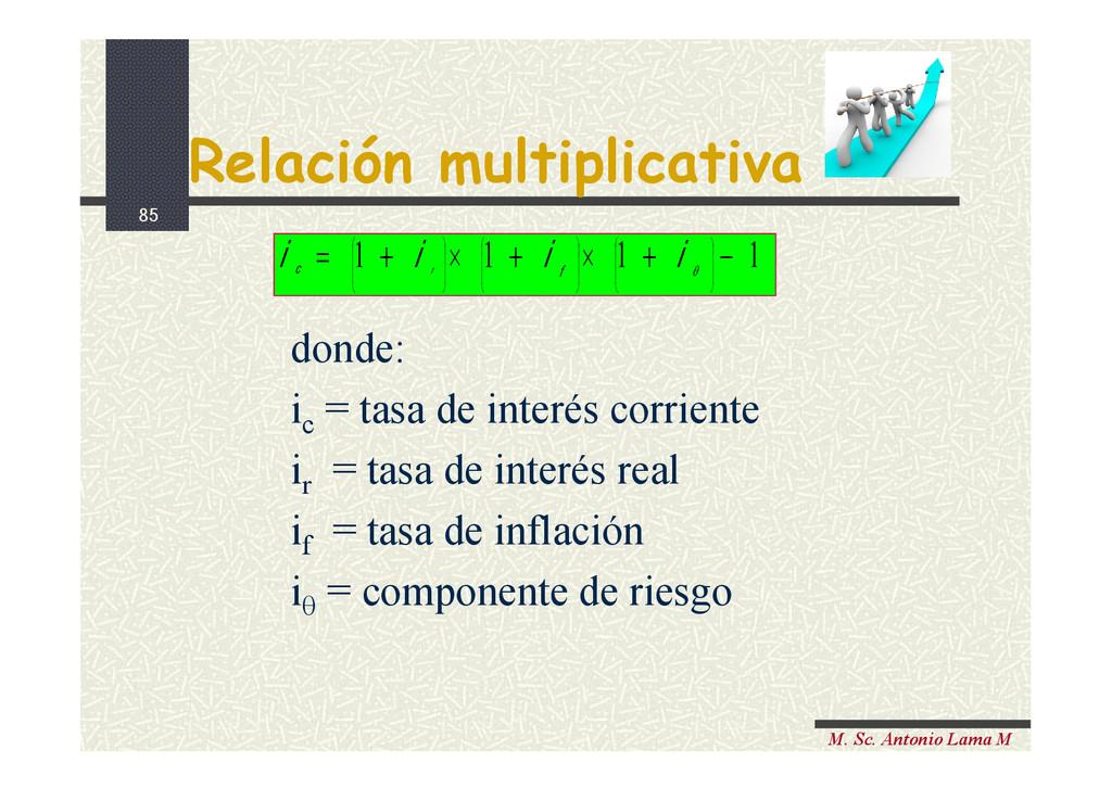 85 M. Sc. Antonio Lama M Relación multiplicativ...