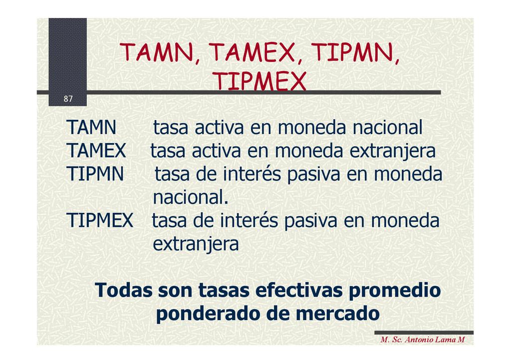 87 M. Sc. Antonio Lama M TAMN tasa activa en mo...