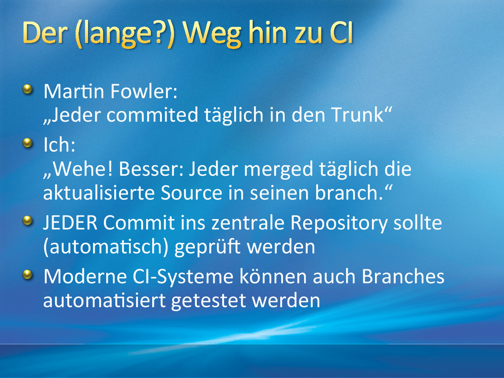 """!  Mar&n Fowler:  """"Jeder commited ..."""