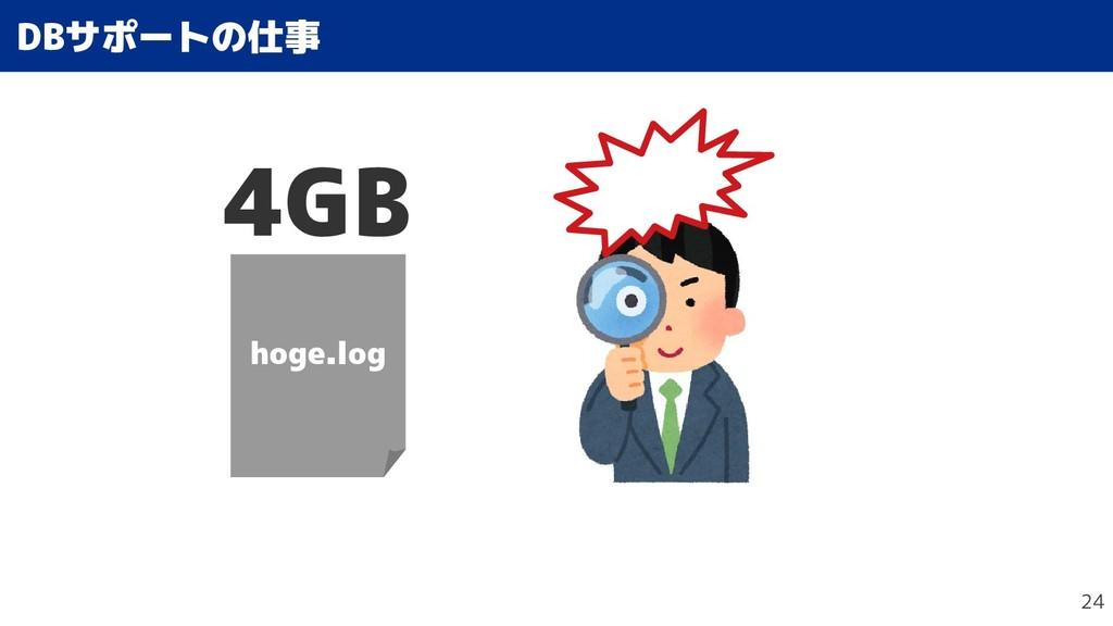 24 DBサポートの仕事の仕事 hoge.log 4GB