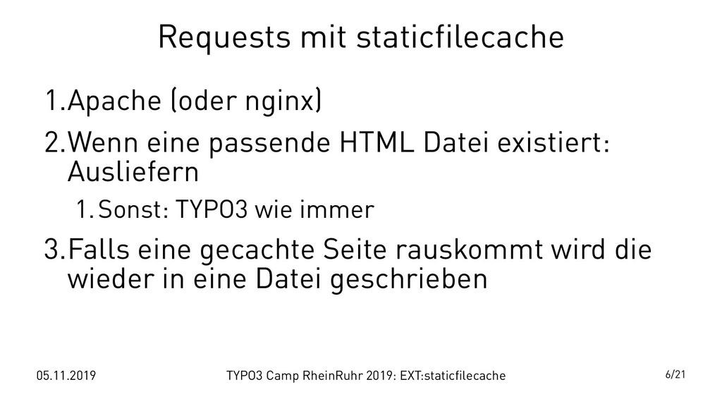 05.11.2019 TYPO3 Camp RheinRuhr 2019: EXT:stati...