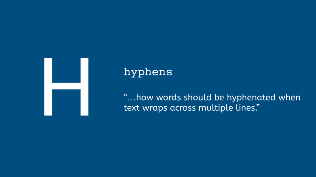 """H hyphens  """"…how words should be hyphenated w..."""