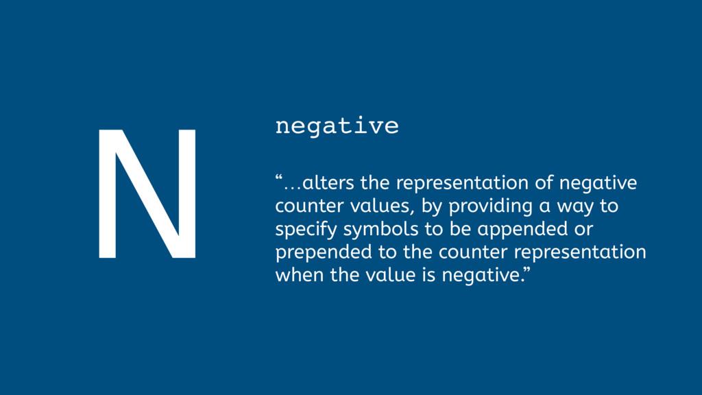 "N negative  ""…alters the representation of ne..."