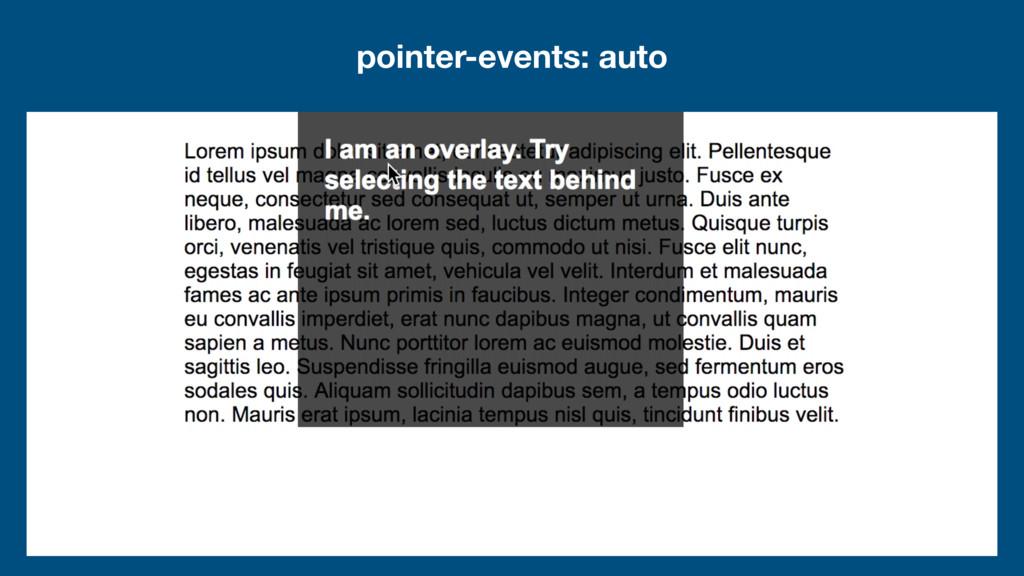 pointer-events: auto