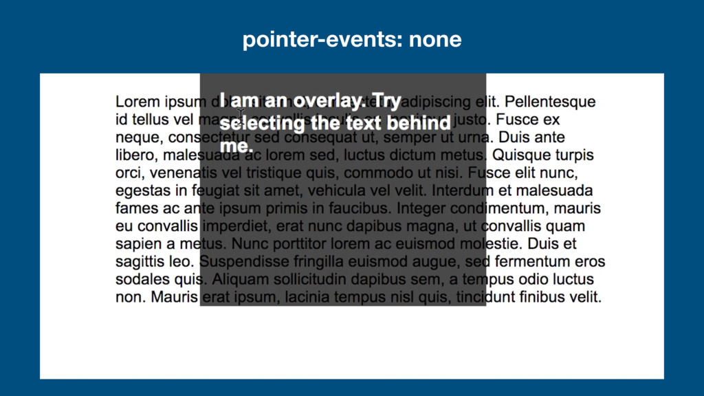 pointer-events: none