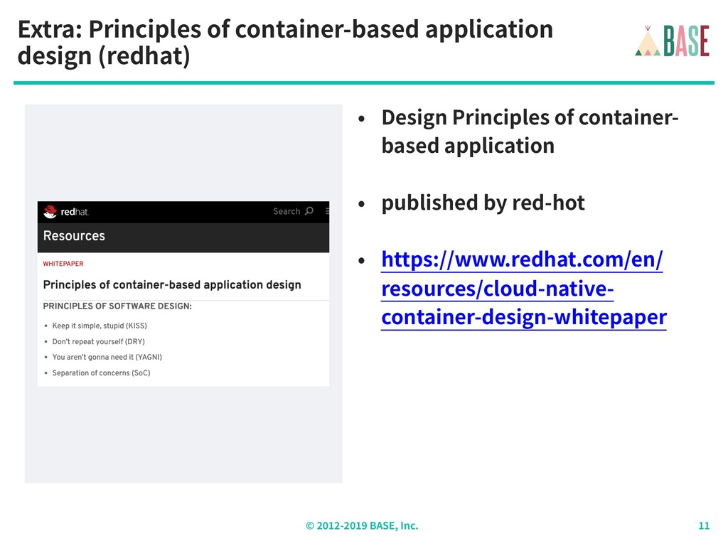 © - BASE, Inc. Extra: Principles of container-b...