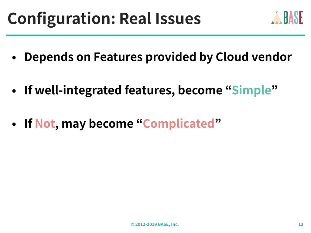 © - BASE, Inc. Configuration: Real Issues • Dep...