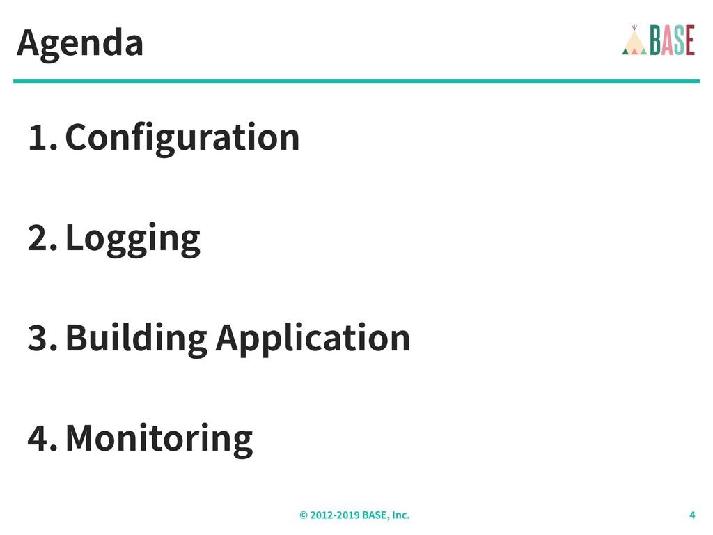 © - BASE, Inc. Agenda .Configuration .Logging ....