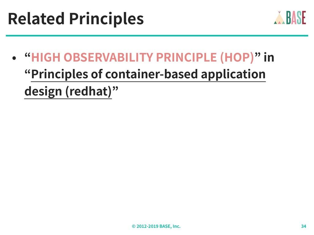 "© - BASE, Inc. Related Principles • ""HIGH OBSER..."