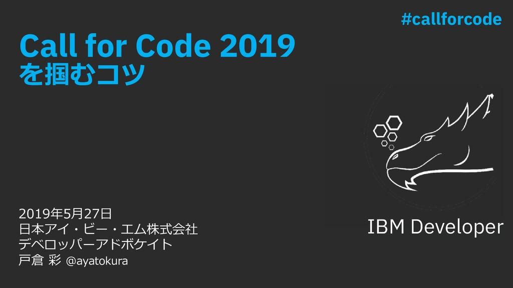 """Call for Code 2019 iè`s{ ÁÐÀ ÀāH¦KH""""±Ľ..."""