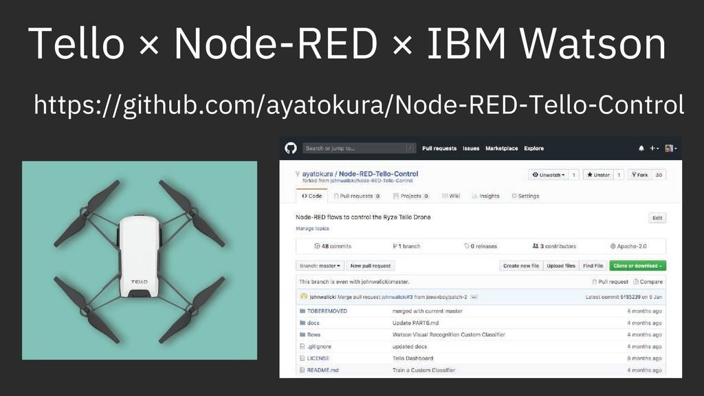 Tello × Node-RED × IBM Watson https://github.co...