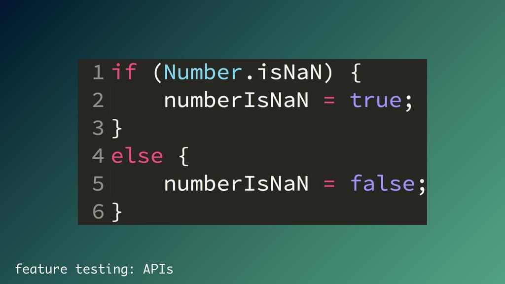 feature testing: APIs