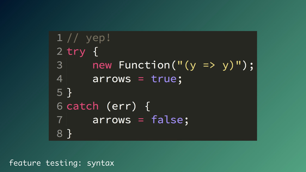 feature testing: syntax