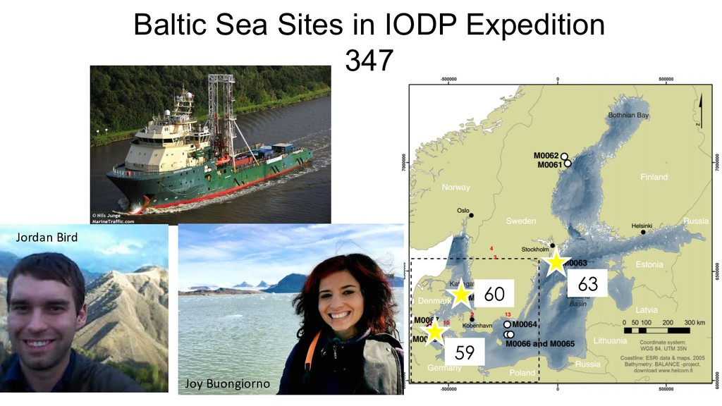 Baltic Sea Sites in IODP Expedition 347 60 63 5...