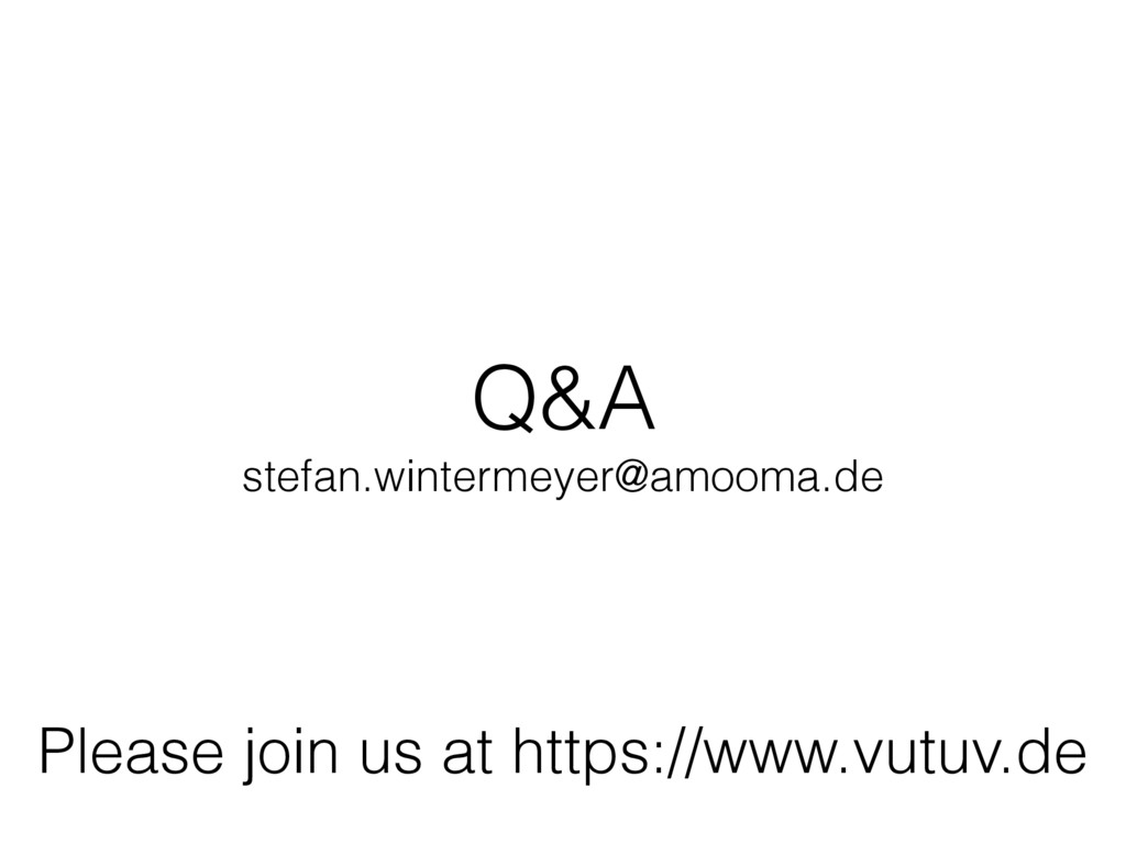 Q&A stefan.wintermeyer@amooma.de Please join us...