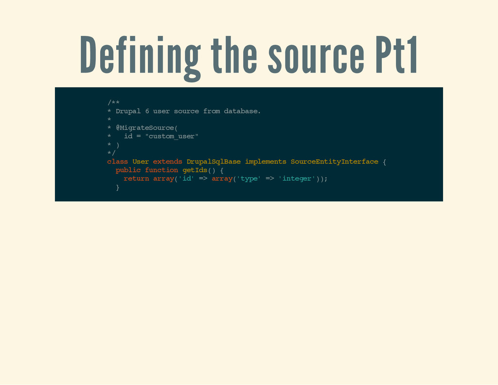 Defining the source Pt1 / * * * D r u p a l 6 u...