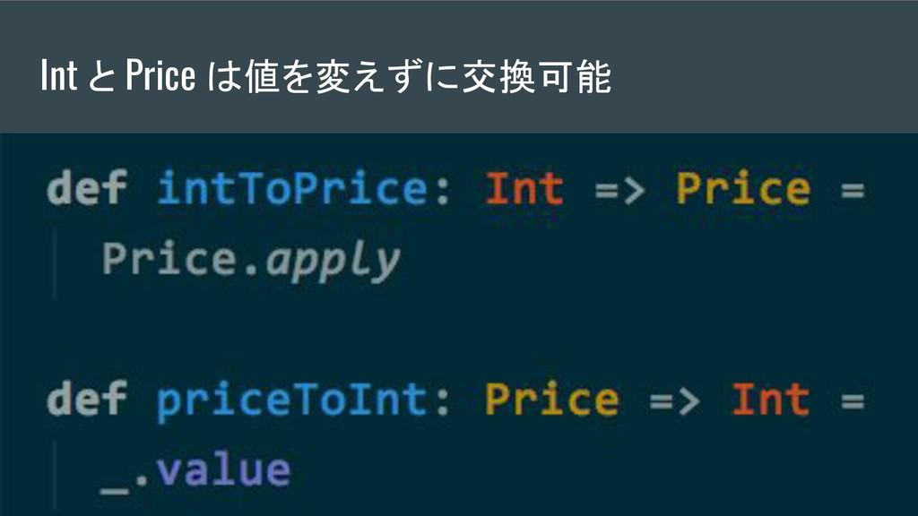 Int と Price は値を変えずに交換可能