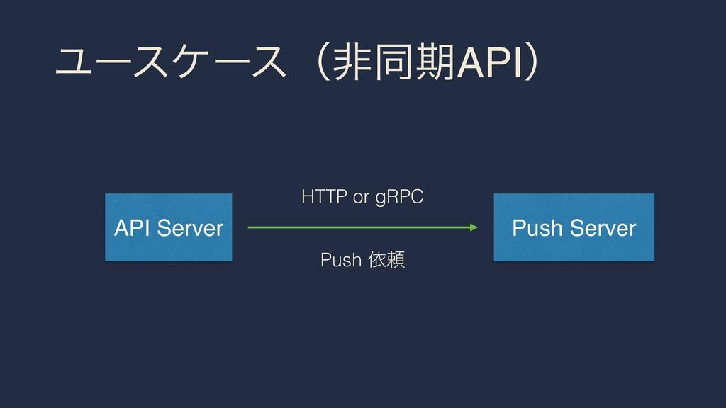 ϢʔεέʔεʢඇಉظAPIʣ API Server Push Server HTTP or g...