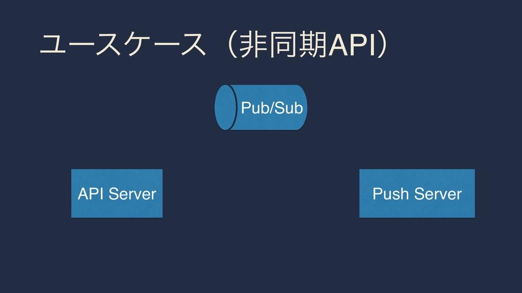 ϢʔεέʔεʢඇಉظAPIʣ API Server Push Server Pub/Sub