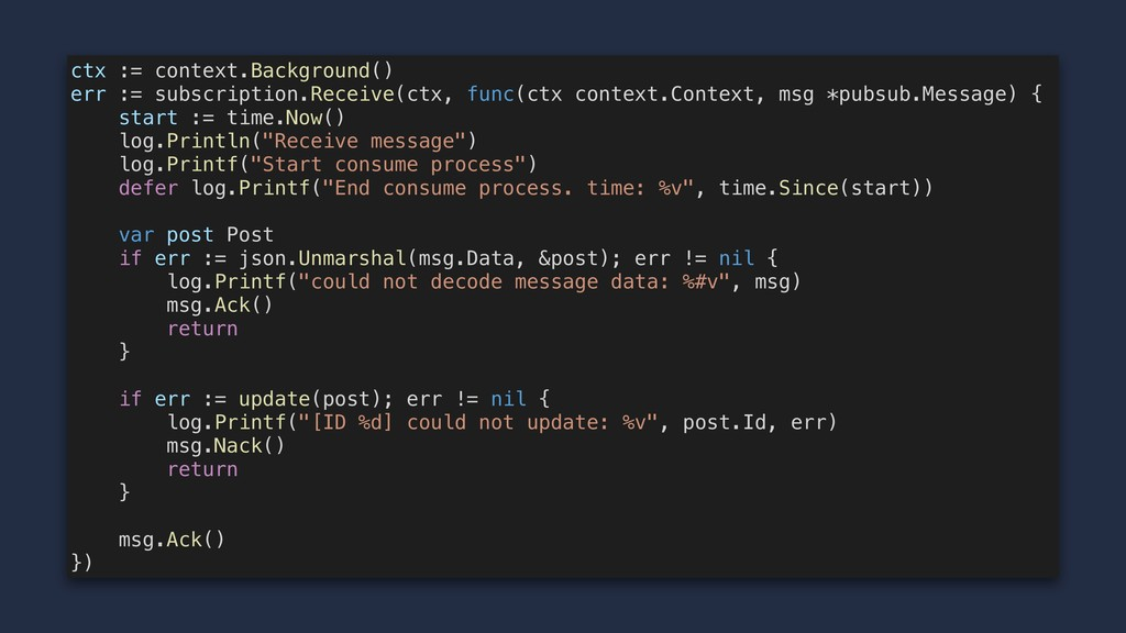 ctx := context.Background() err := subscription...