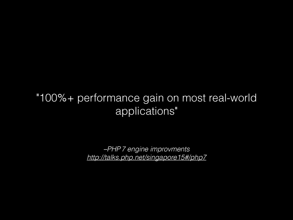 –PHP 7 engine improvments http://talks.php.net/...