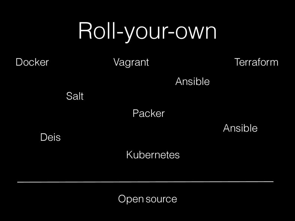 Roll-your-own Docker Salt Vagrant Packer Ansibl...