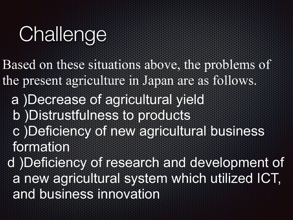 Challenge Based on these situations above, the ...