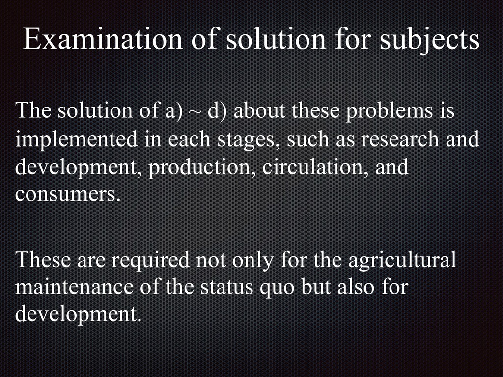 The solution of a) ~ d) about these problems is...
