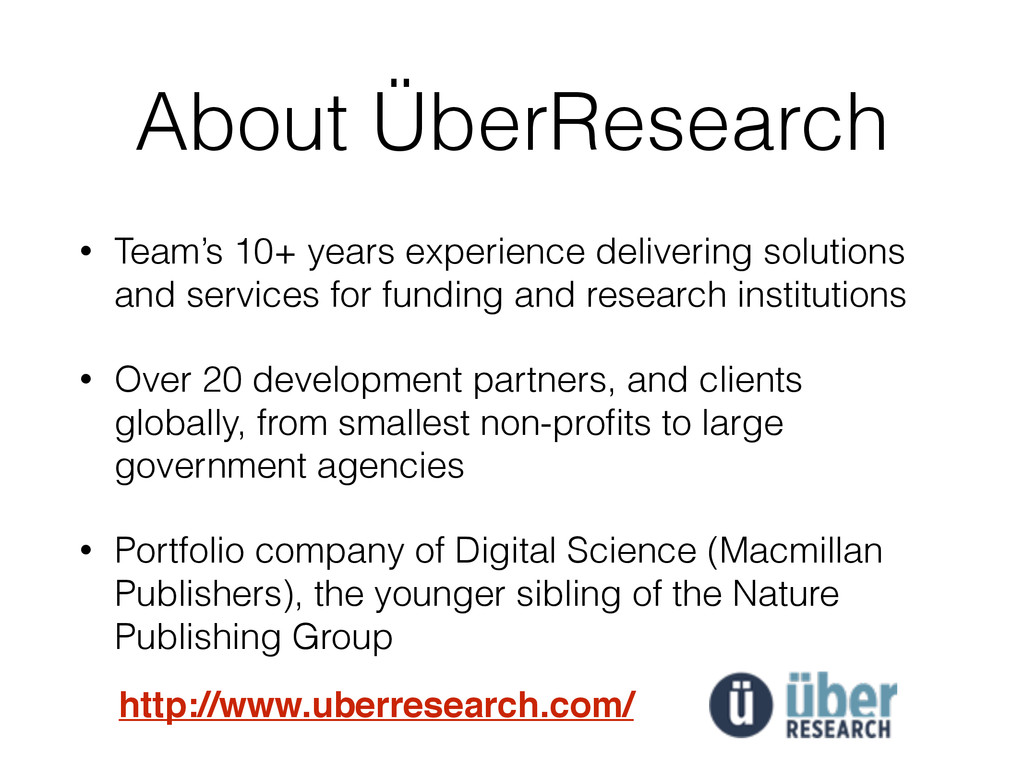 About ÜberResearch • Team's 10+ years experienc...