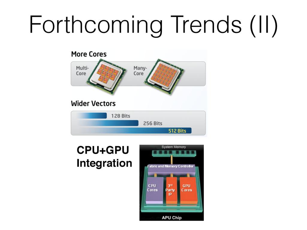 Forthcoming Trends (II) CPU+GPU Integration