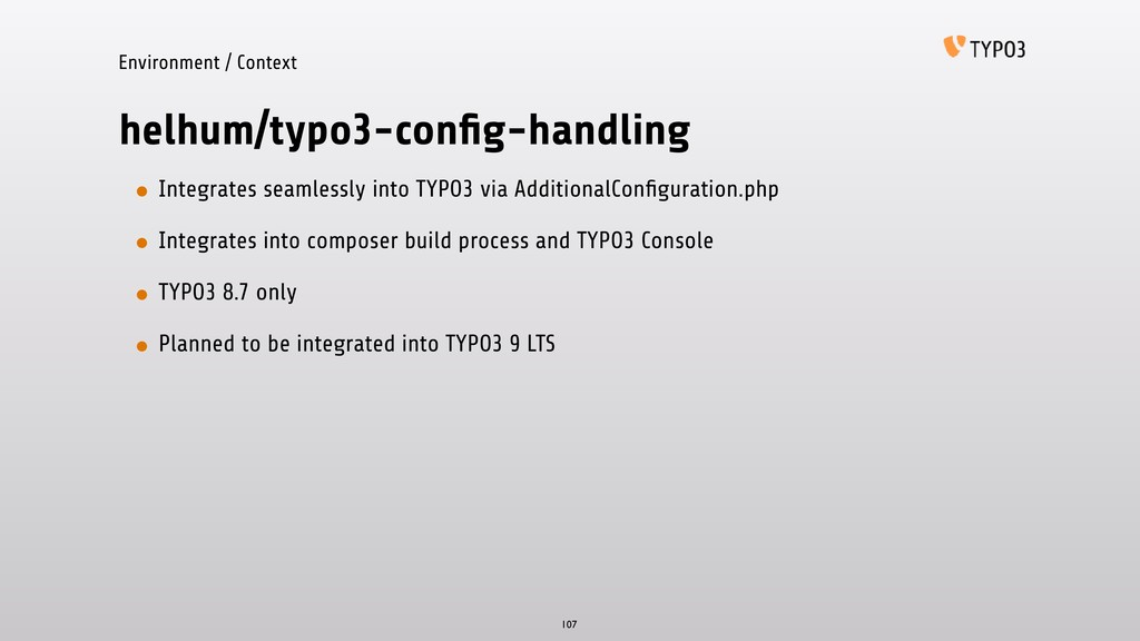 helhum/typo3-config-handling • Integrates seamle...
