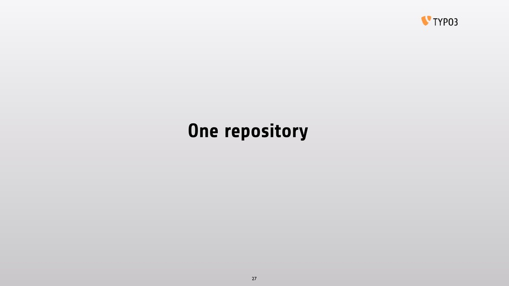 One repository 27
