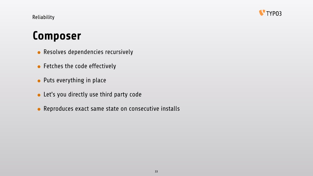 Reliability Composer • Resolves dependencies re...