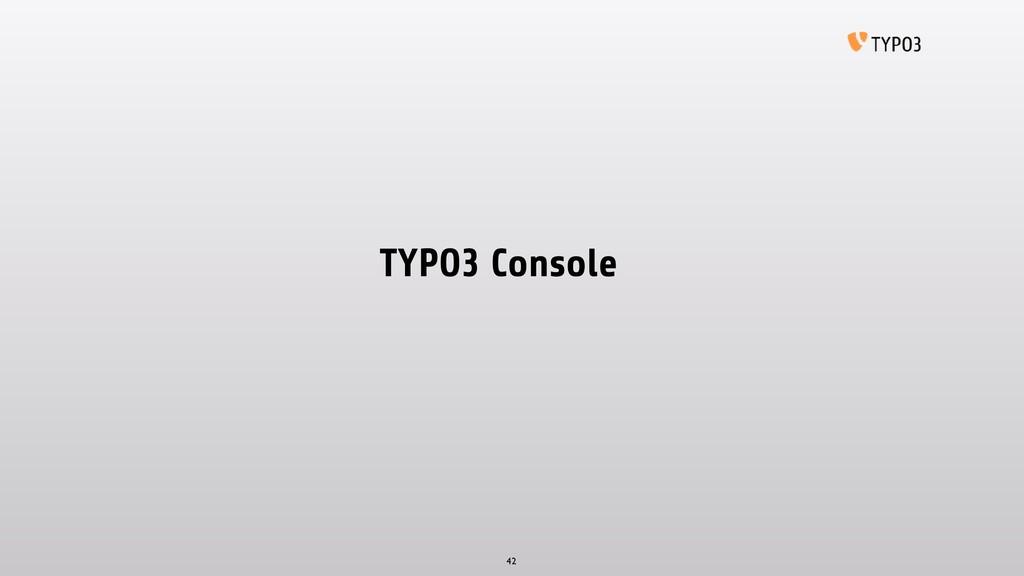TYPO3 Console 42
